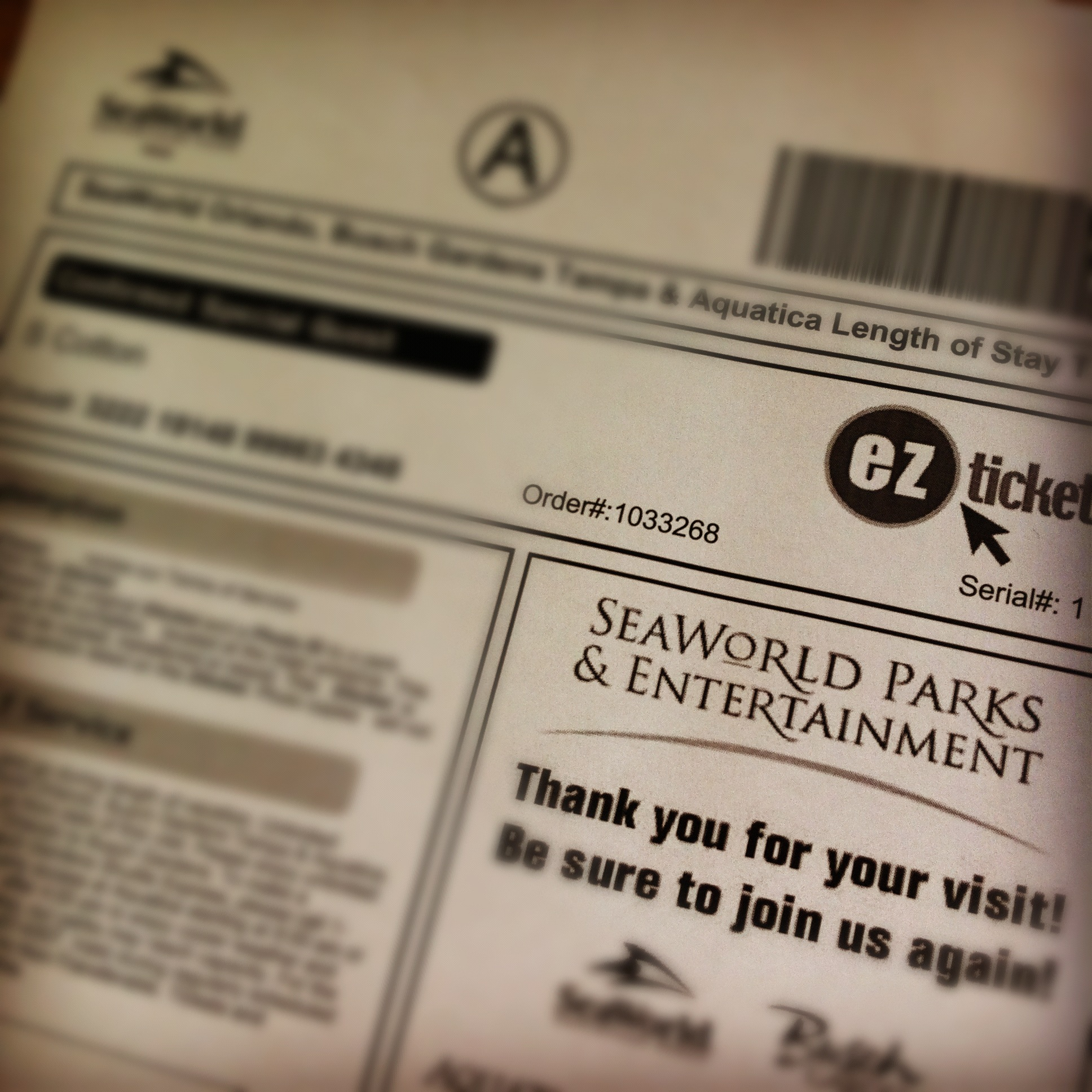 SeaWorld EZTicket