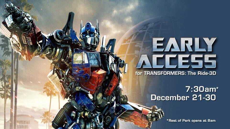 Transformers The Ride 3D early access