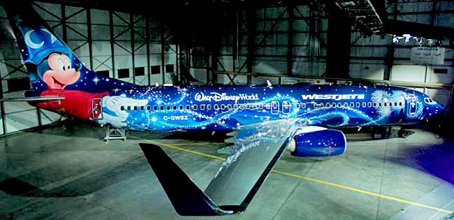 Westjet Magic Plane