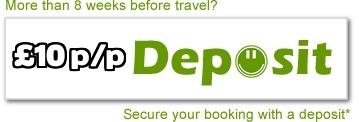 £10 per person deposit