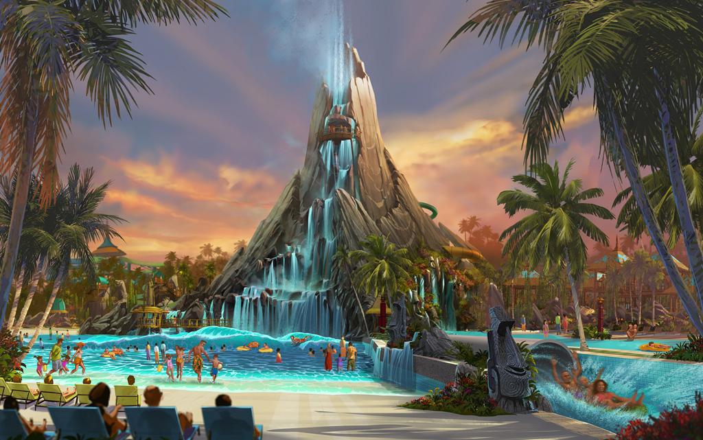 Artist rendering of Universal's Volcano Bay